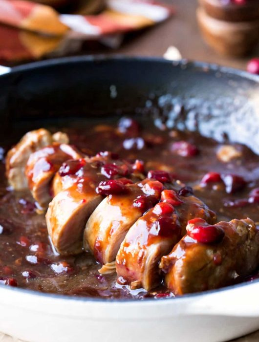 Cranberry Balsamic Pork Tenderloin