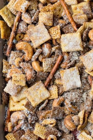 Cinnamon Sugar Sweet and Salty Chex Mix