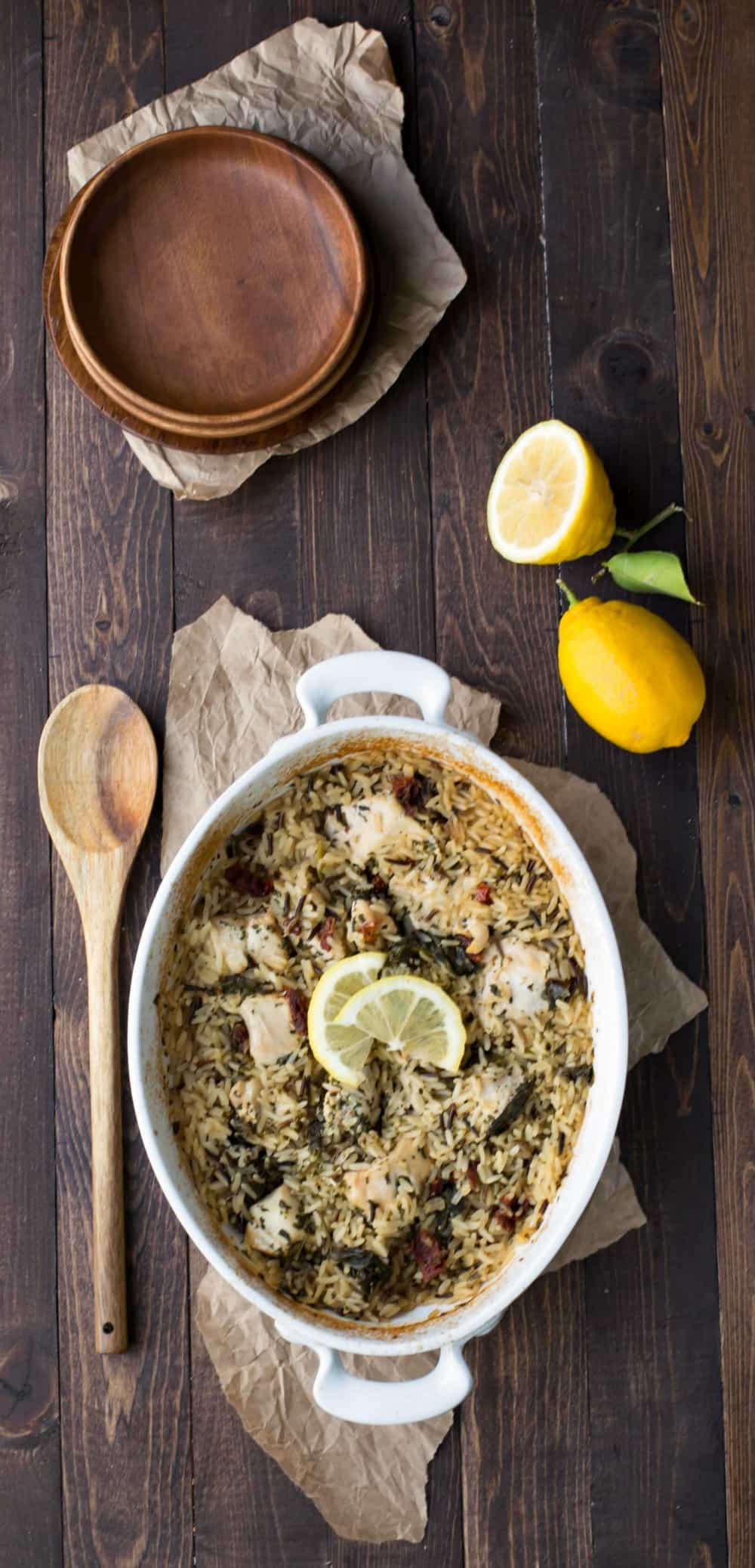 Mediterranean Chicken and Rice Casserole