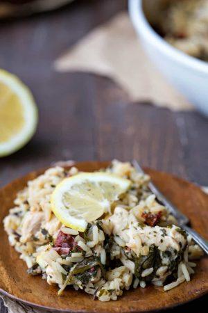 Mediterranean Chicken and Rice Casserole