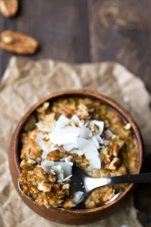 Overnight Crock Pot Carrot Cake Oatmeal