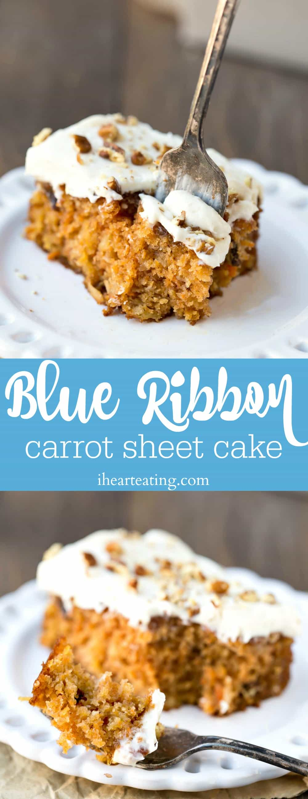 Blue Ribbon Carrot Sheet Cake I Heart Eating