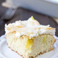 Coconut Lemon Poke Cake Recipe