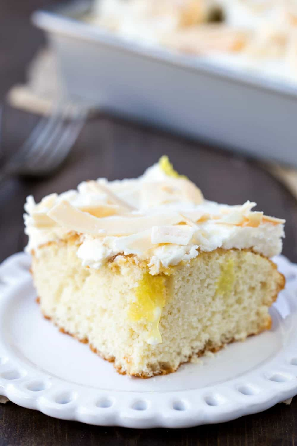 Coconut Lemon Poke Cake Recipe