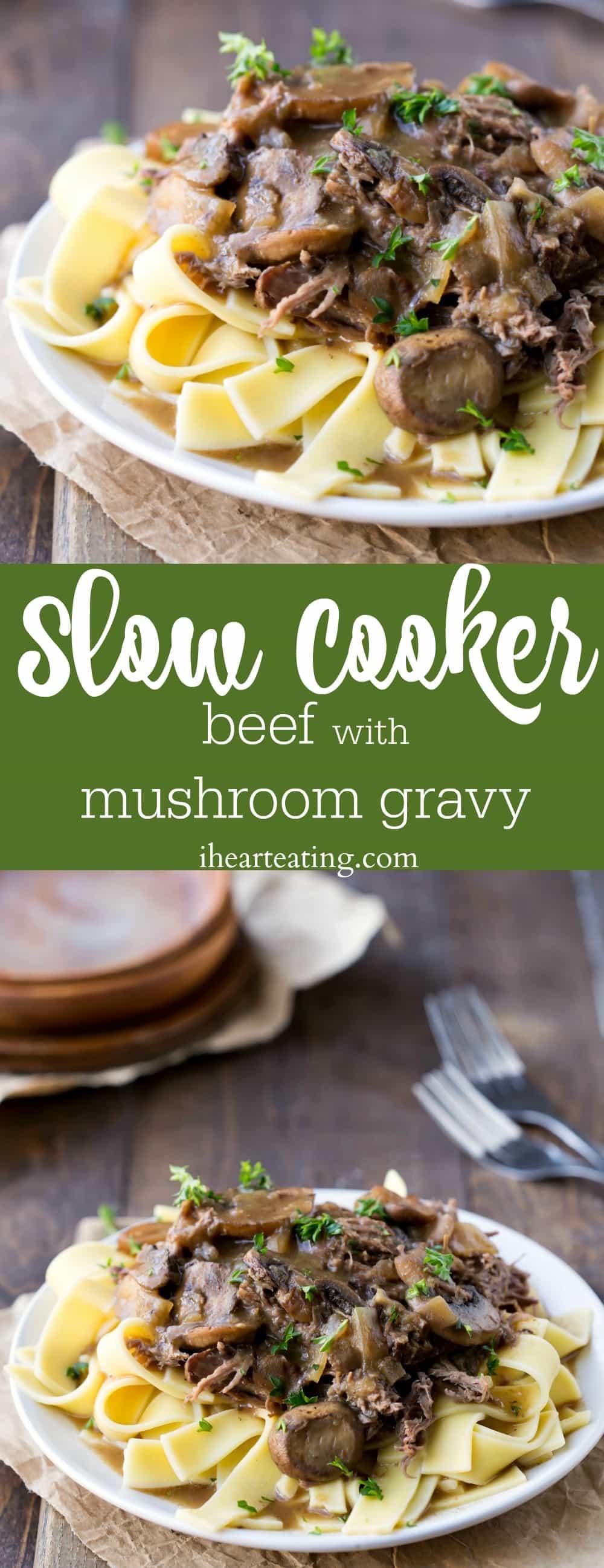 Slow Cooker Beef with Mushroom Gravy