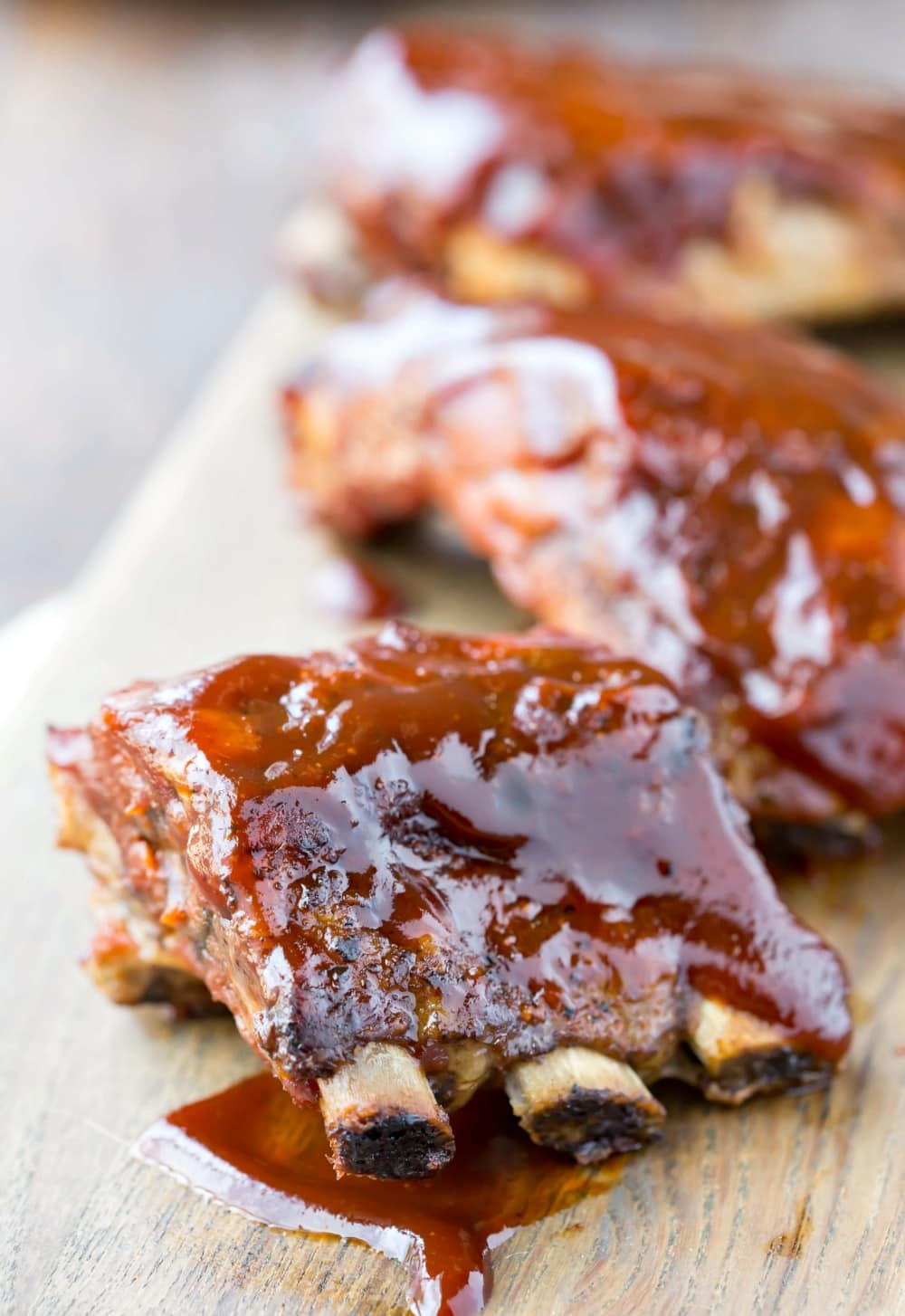 Homemade Kansas City Style Barbecue Sauce on ribs