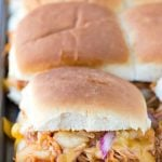 Baked Hawaiian Barbecue Chicken Sandwiches