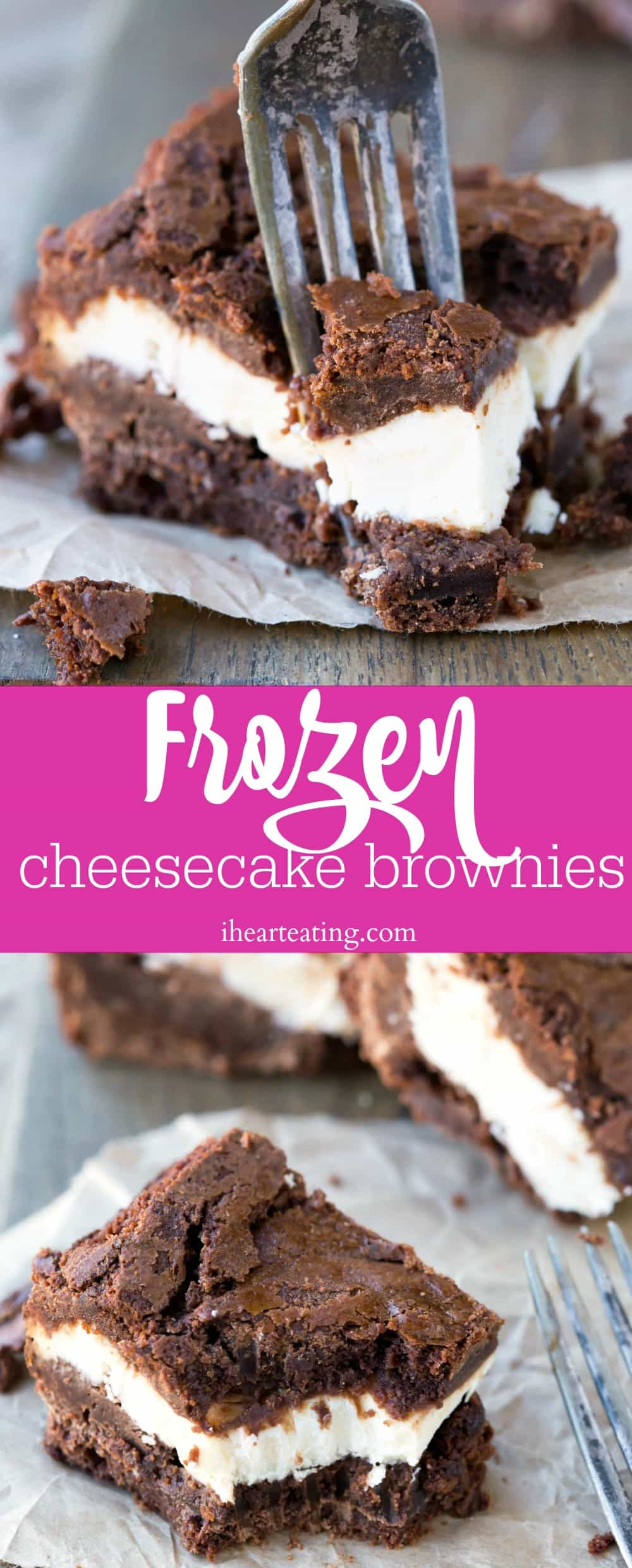 Frozen Cheesecake Brownies