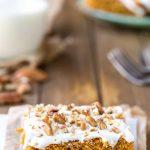 Pumpkin Spice Cake Bars
