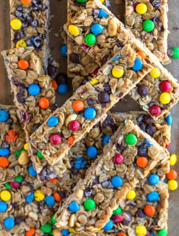 Homemade M&M Granola Bar Recipe