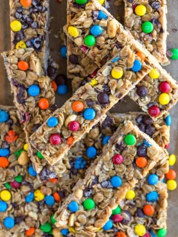 Homemade M&M Granola Bar Recipe