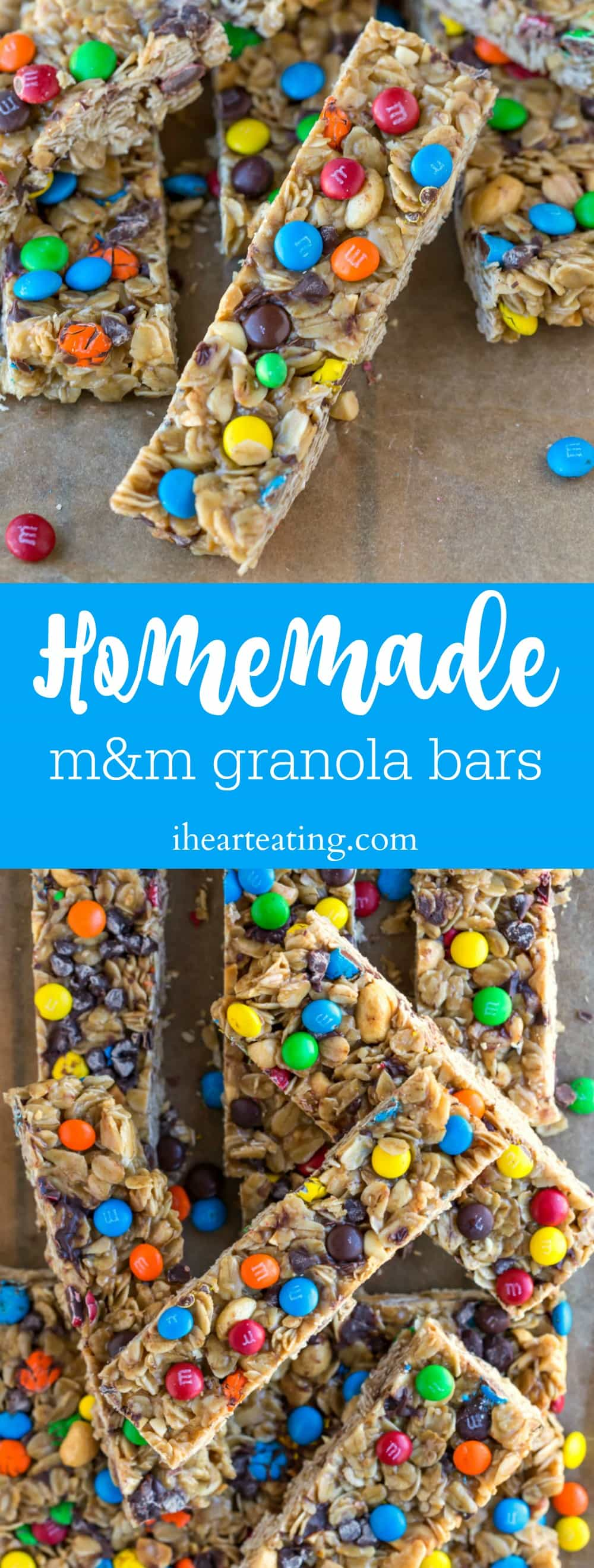 Homemade M&M Granola Bars