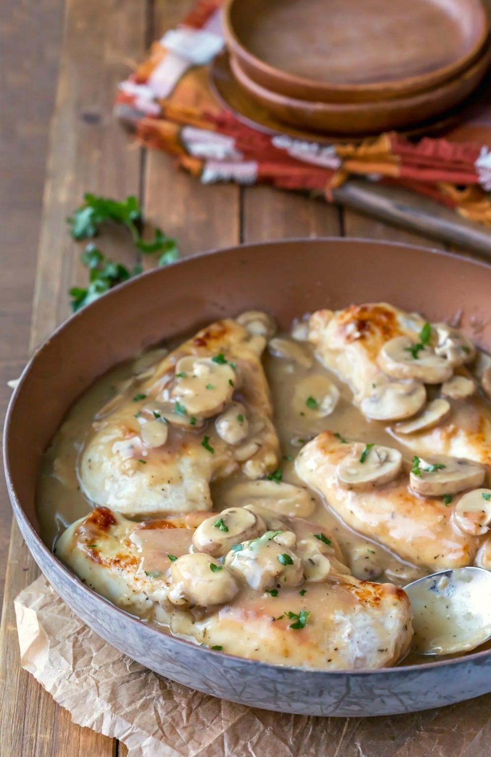 Skillet Chicken Marsala