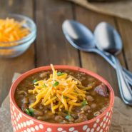 Slow Cooker Smoky Sausage and White Bean Soup