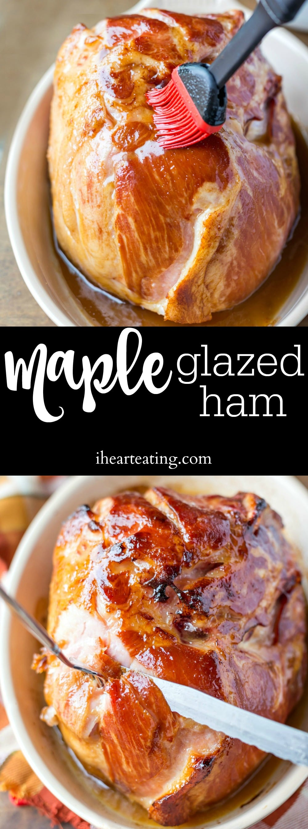 Easy 5-ingredient glazed ham recipe that is perfect for Christmas or Easter dinner!