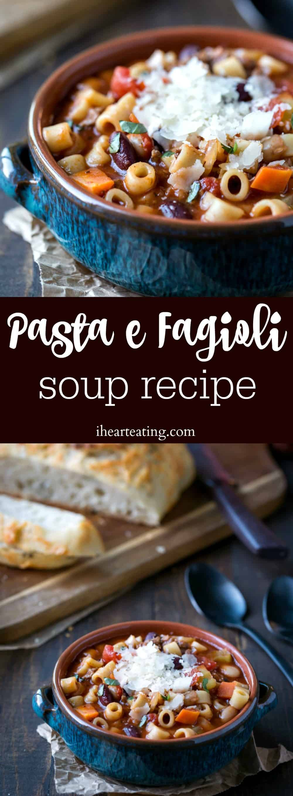 Pasta e fagioli soup recipe is a copycat Olive Garden recipe. The soup is easy to make, hearty, and inexpensive.