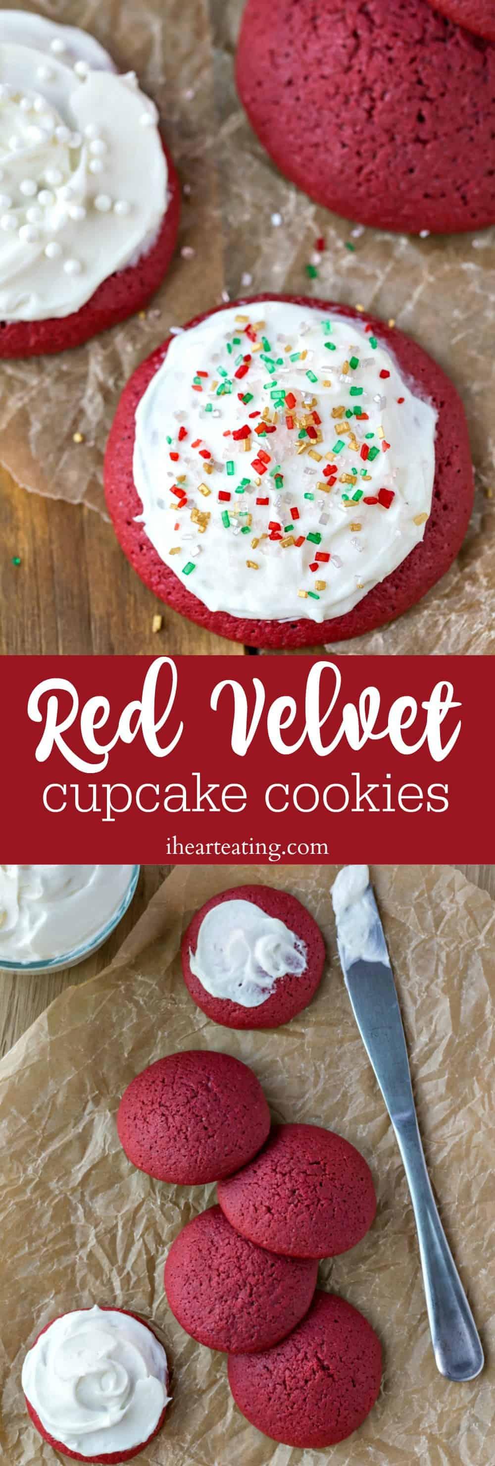 Red Velvet Cupcake Cookies taste just like a red velvet cupcake in cookie form!