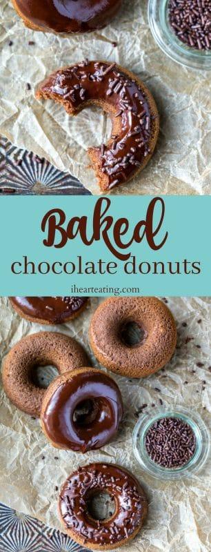 Baked Chocolate Donut Recipe I Heart Eating