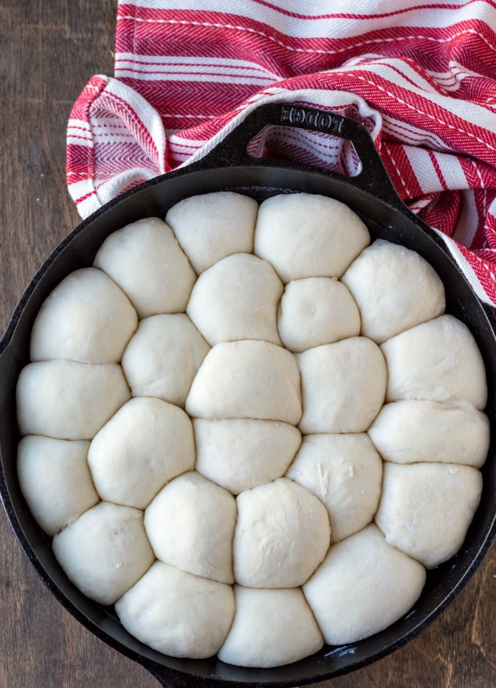 Cinnamon roll bites dough in skillet
