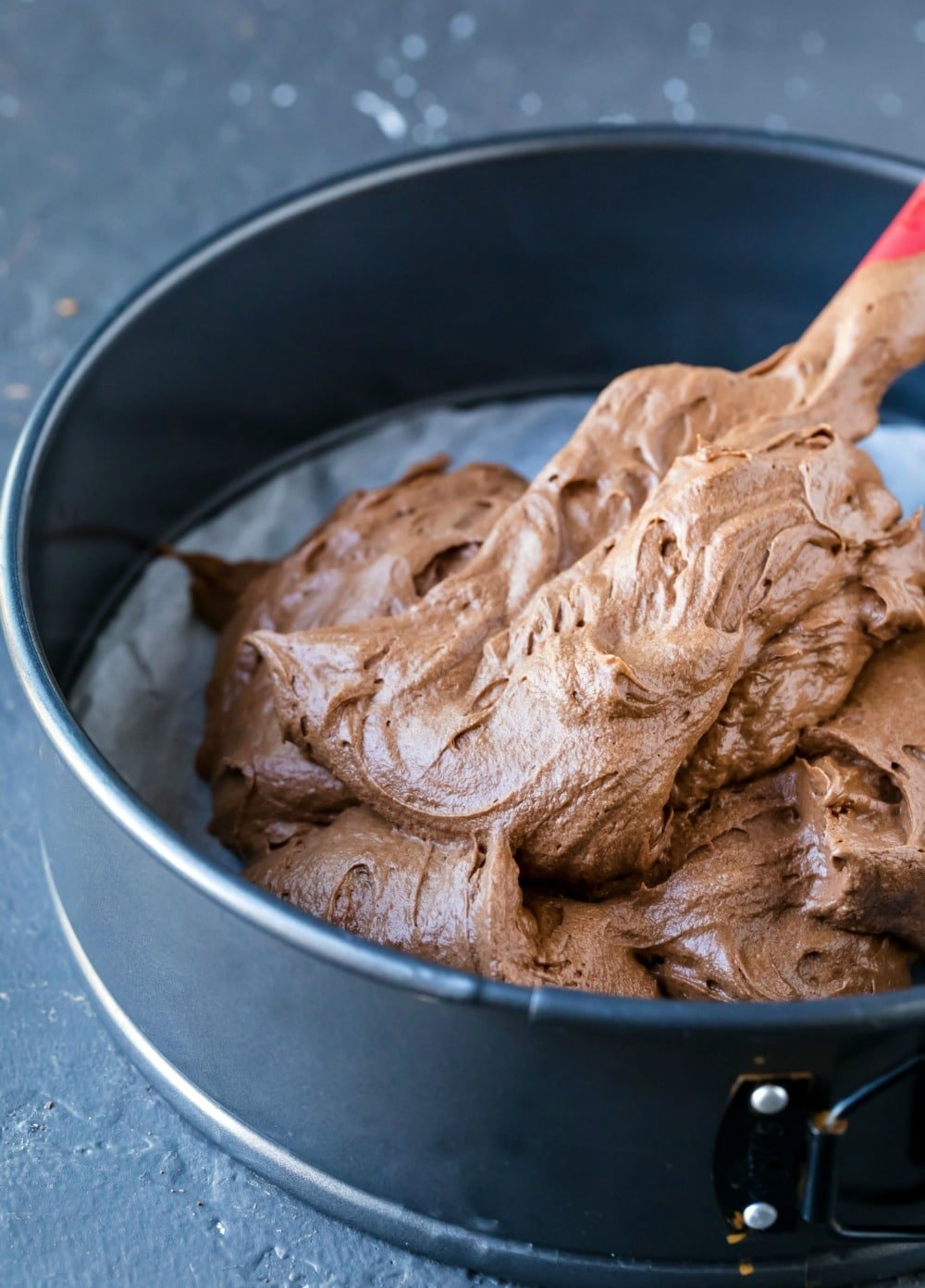 Flourless chocolate cake batter