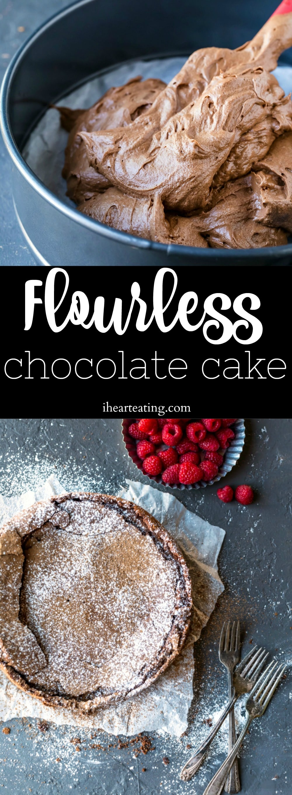 Flourless Chocolate Cake is a rich chocolate cake that's made without any flour.