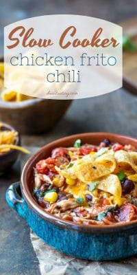 Slow Cooker Chicken Frito Chili - I Heart Eating