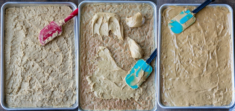 Peanut butter bars process pictures