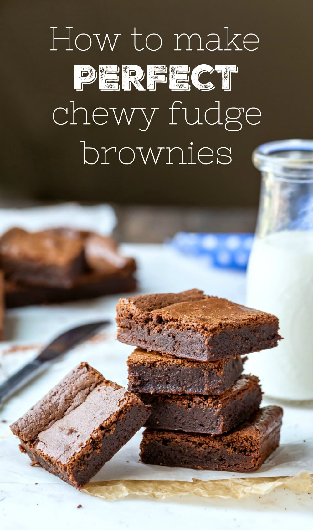 How to make brownies! This guide to making perfect fudge brownies has all of the step-by-step photos and tips you need to make the BEST brownies! 