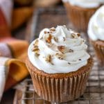Apple Spice Cupcake with cream cheese frosting