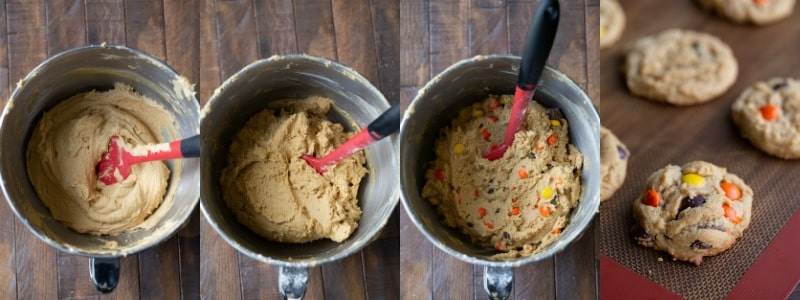 ultimate peanut butter cookie dough in a mixing bowl