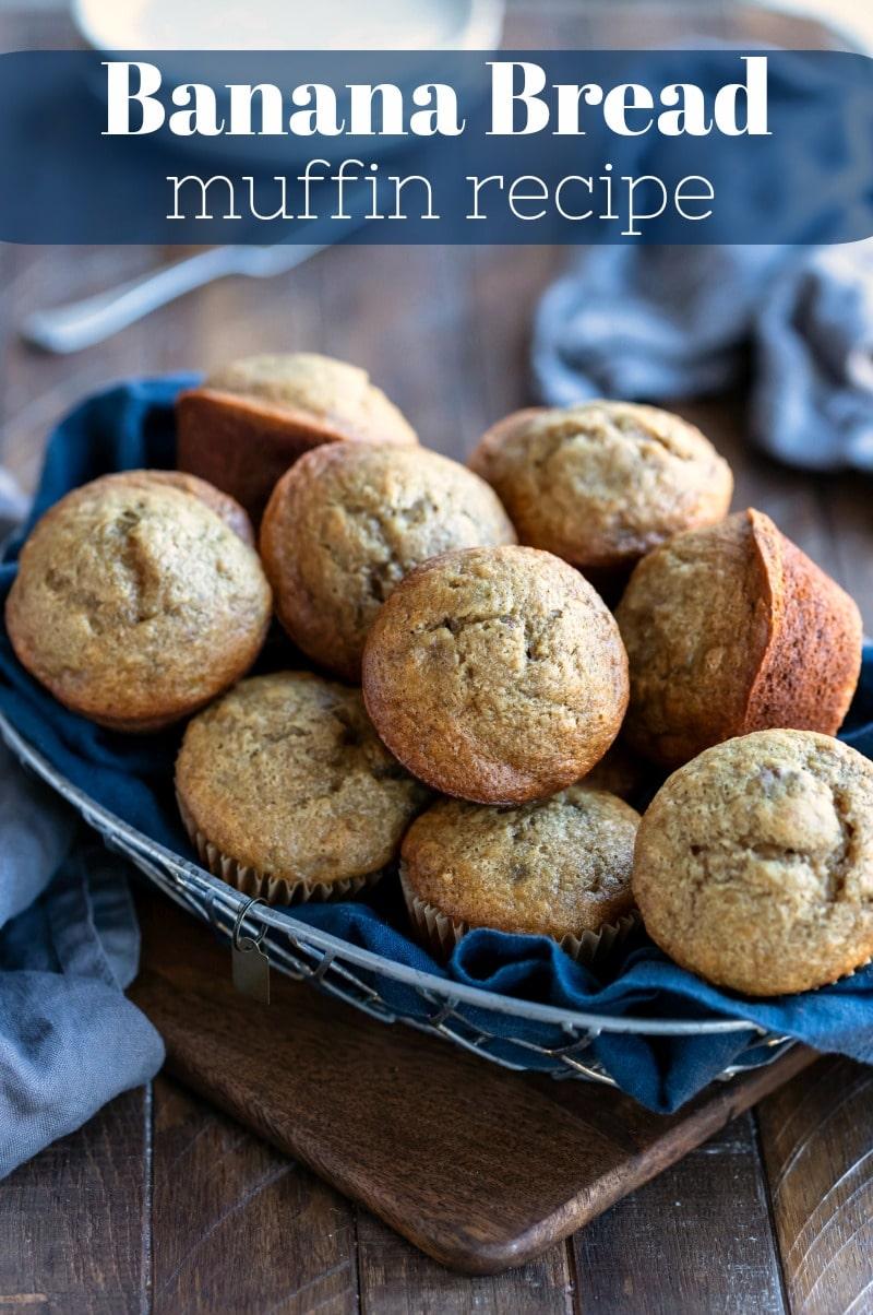 Best banana bread muffin recipe!  #onebowl #banana #muffin #bananabread #recipe #easy