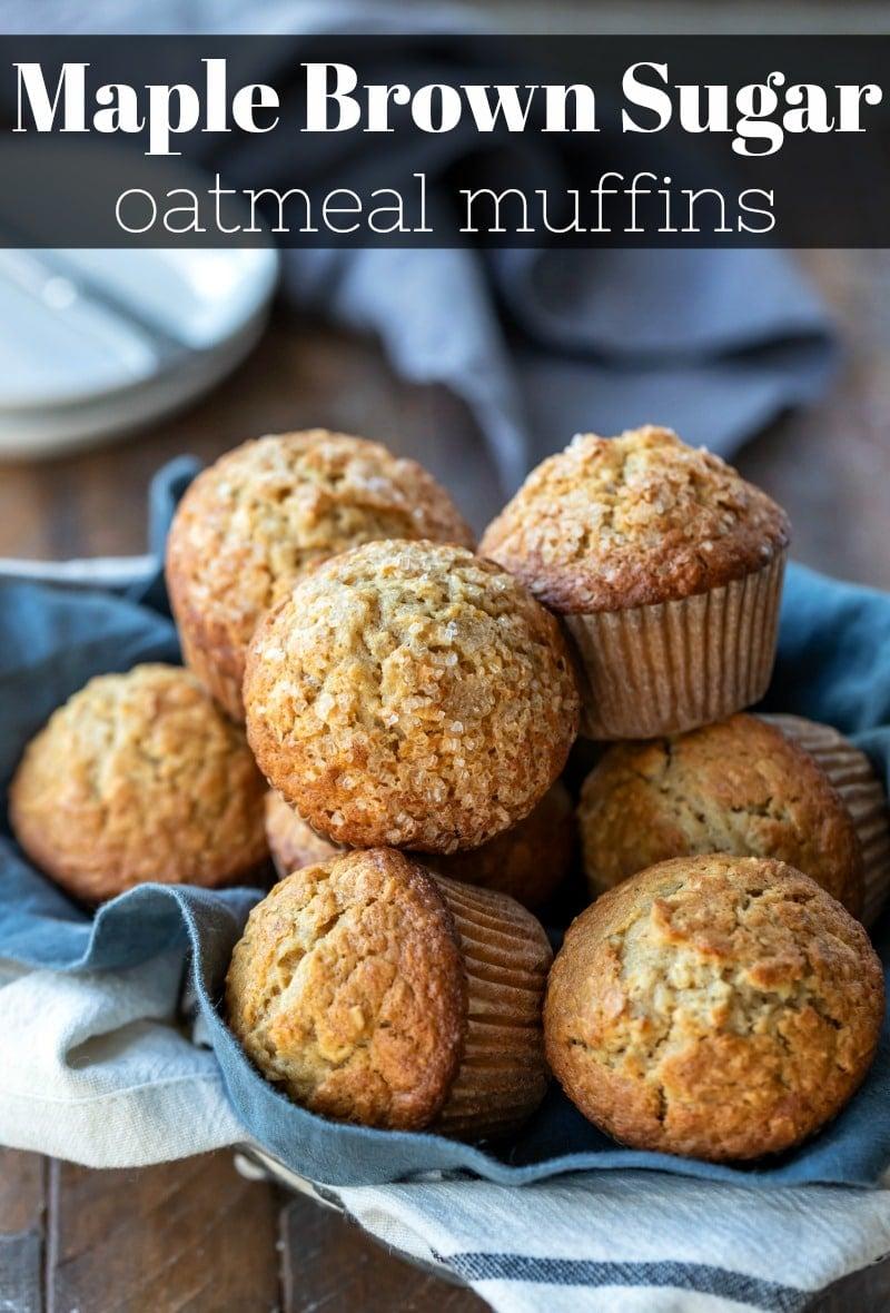 Maple brown sugar oatmeal muffin recipe  #oatmeal #muffin #recipe #healthy #breakfast