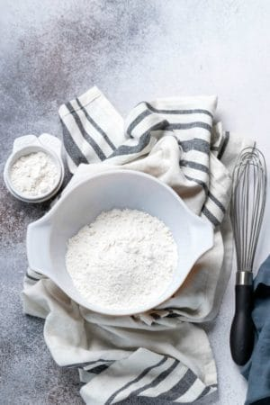 Self-Rising flour in a mixing bowl