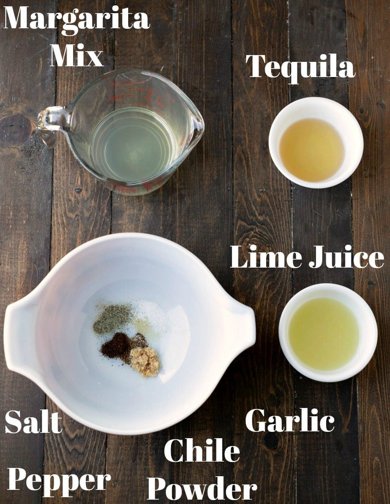 ingredients for tequila lime chicken in bowls