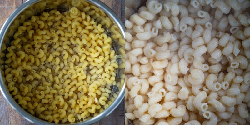 Dry pasta in an Instant Pot inner pot