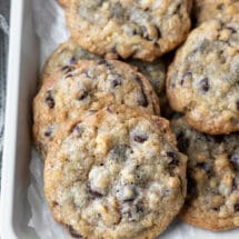 Tray of doubletree chocolate chip cookies