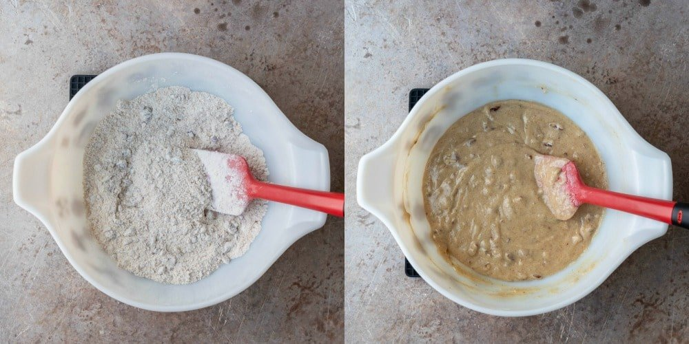 Brown sugar topping in white mixing bowl